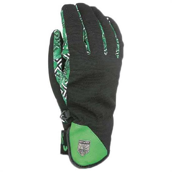 Гірськолижні рукавички чоловічі Level Suburban кол.Чорний-зелений | розмір 7,5