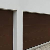Секционные гаражные ворота с боковой дверью ALUTECH Prestige 2750×2500