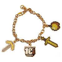 Браслет JINX Minecraft 10 Year Anniversary Charm Bracelet