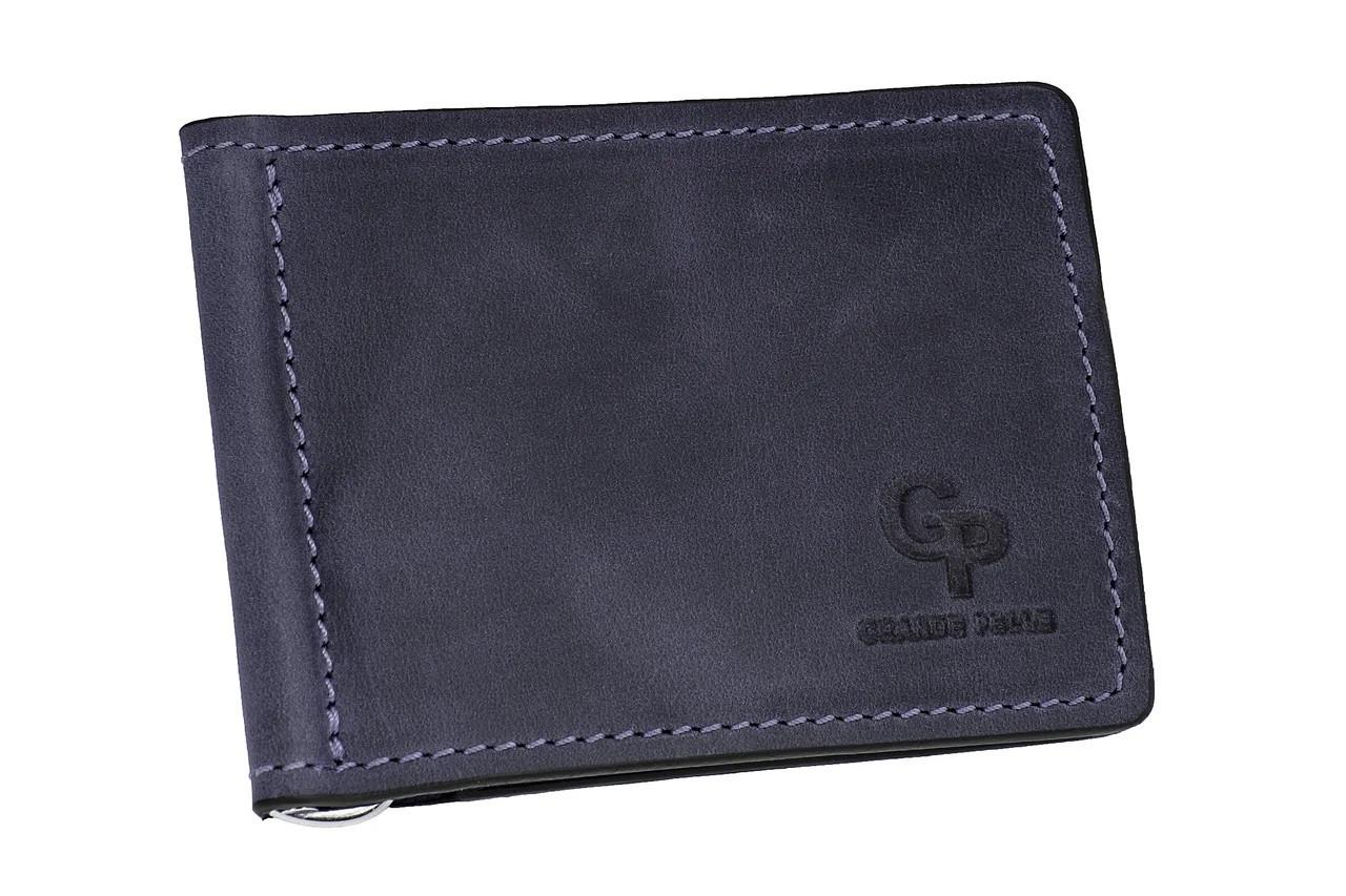 Зажим для купюр кожаный Grande Pelle (10222)