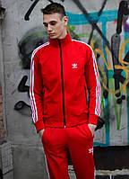 Спортивный костюм мужской Adidas весна осень красный. Живое фото
