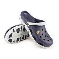 Кроксы crocs сабо сланцы от Jose Amorales синие с серым, размер 37