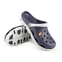 Кроксы crocs сабо сланцы от Jose Amorales синие с серым, размер 38