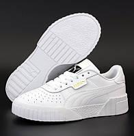 Жіночі кросівки Puma Cali Leather Trainers Ladi White 36-45рр. Живе фото. Репліка ААА+