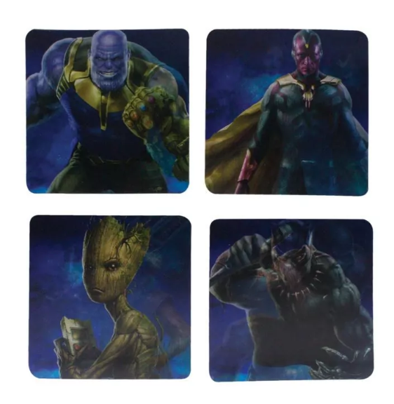 Подстаканник Paladone Marvel - Avengers Infinity War Lenticular  Coasters (PP4406MVIW)