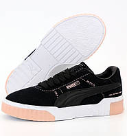 Жіночі кросівки Puma Cali Select Patternmaster Black White Pink 36-40рр. Живе фото. Репліка ААА+