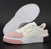 Жіночі кросівки Puma Cali Select Patternmaster White Pink 36-40рр. Живе фото. Репліка ААА+