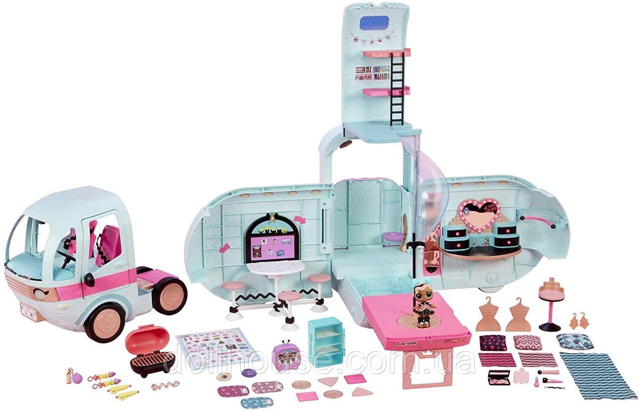 Игровой набор L.O.L. SURPRISE! – ГЛАМУРНЫЙ КЕМПЕР ЛОЛ Автобус (кукла, аксессуары)