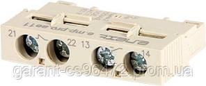 Блок дополнительных контактов фронтальный для АЗД (0,4-32) e.mp.pro.ae11: дополнительный 1NO + 1NC