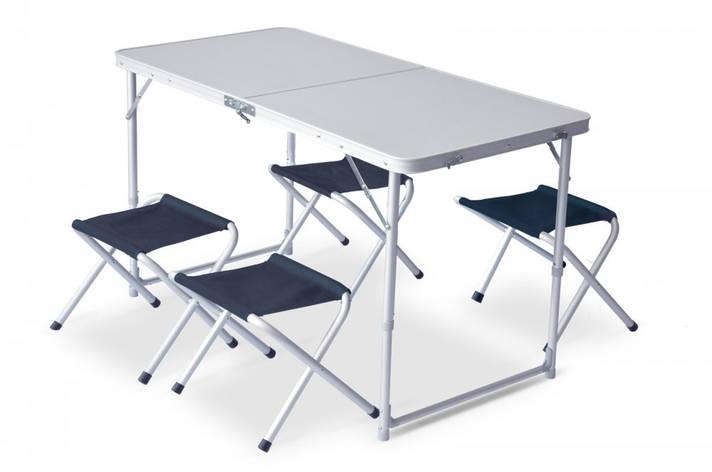 Стол складной туристический Pinguin Set Table + 4 стульчика, фото 2