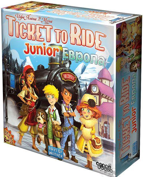 Настольная игра Hobby World Ticket to Ride Junior: Европа  (1867)