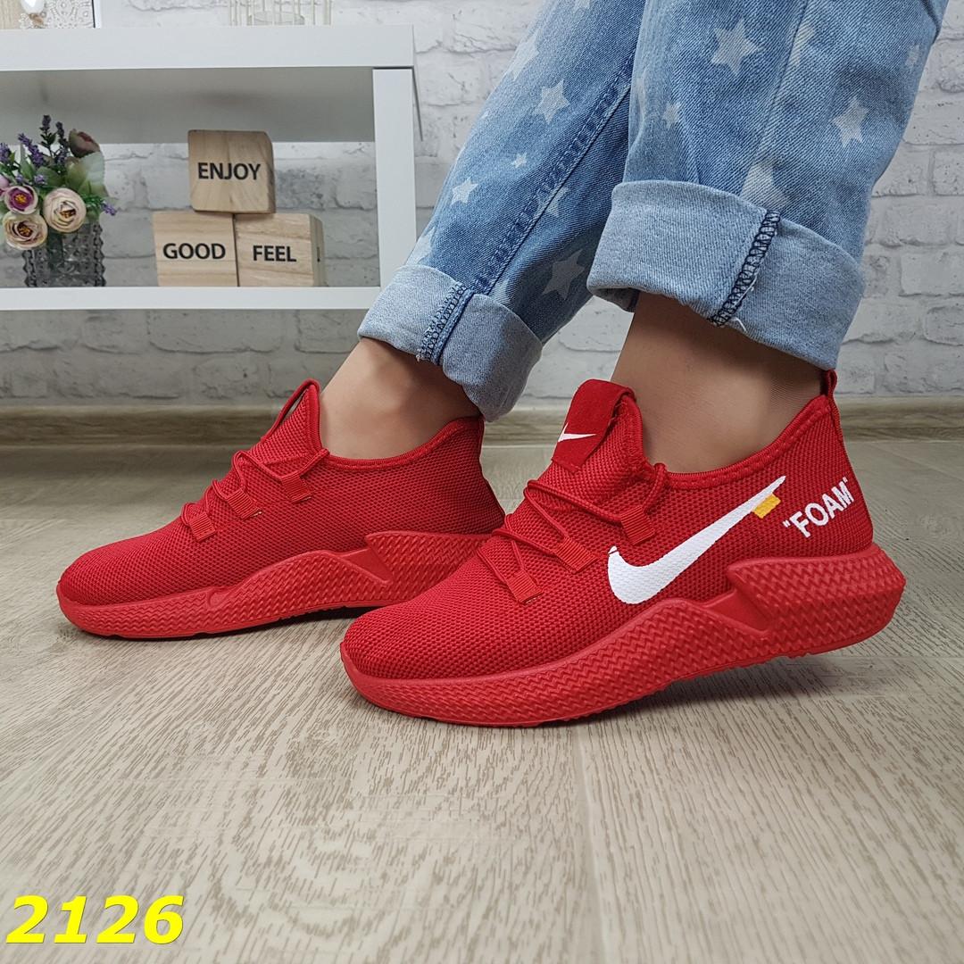 Женские легкие текстильные кроссовки, красные, р.36,37,41