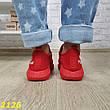 Женские легкие текстильные кроссовки, красные, р.36,37,41, фото 2