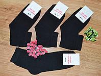 Носки женские высокие однотонные черного цвета р.36-40