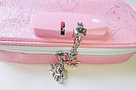 Школьный пенал для девочки с кодовым замком розовый без наполнения антикража твердый