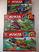 Ниндзяго конструктор 3в1 Подарочный набор Bela Ninjago 10580, 10581, 10579 аналог лего ніндзяго