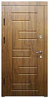 """Входные двери металлические, рис. """"Б"""" №288, Цвет Дуб натуральный"""