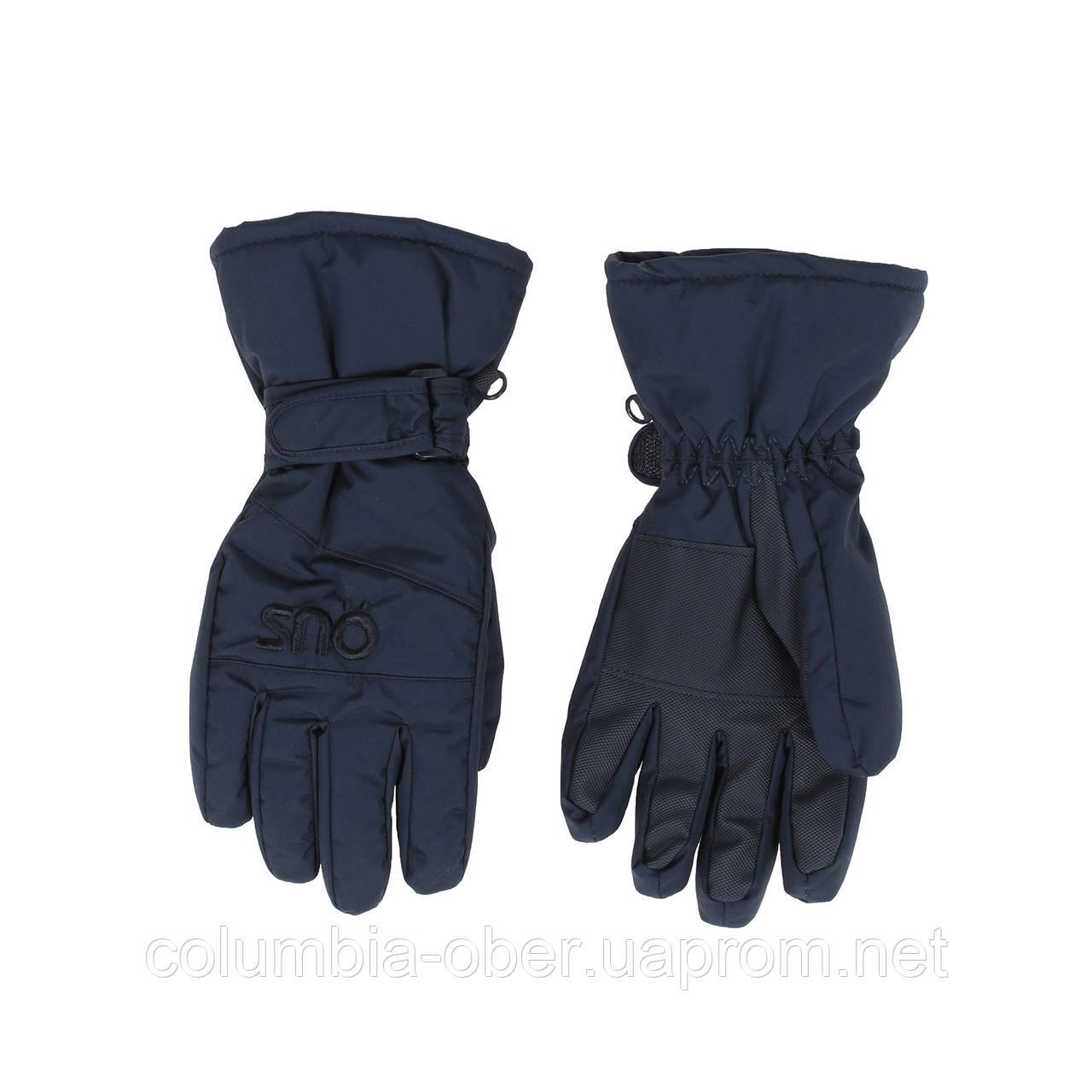 Зимние непромокаемые перчатки для мальчика SNO F18GA307 BLACK. Размер 14/16.