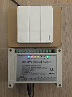 Sonoff eWeLink 4CH Pro реле 4-кан + вимикач RF 433 МГц WiFi 10А  Google Home Amazon