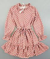 {есть:128,152} Платье для девочек,  Артикул: NT294-грязно-розовый