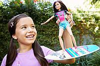Кукла Barbie Dreamhouse Adventures Скиппер Серфингистка Спортивные сестры на шарнирах GHK36, фото 5