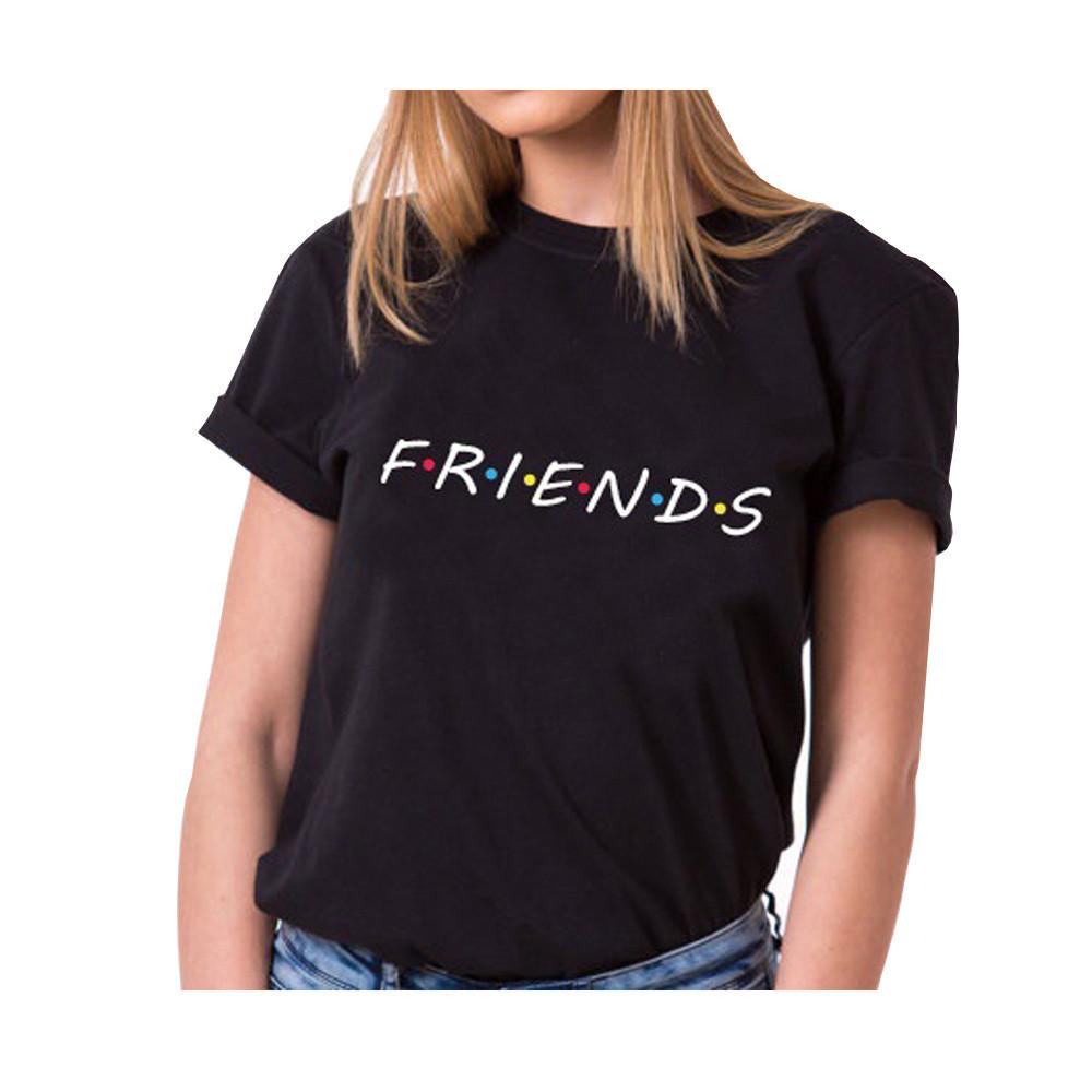 Летняя молодежная женская футболка с принтом FRENDS