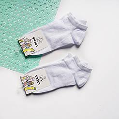 Короткие женские носки V&T socks однотонные белые