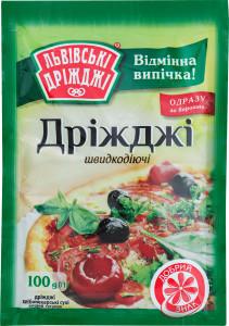 Дрожди - хлебопекарские ТМ Львовские 100 грамм