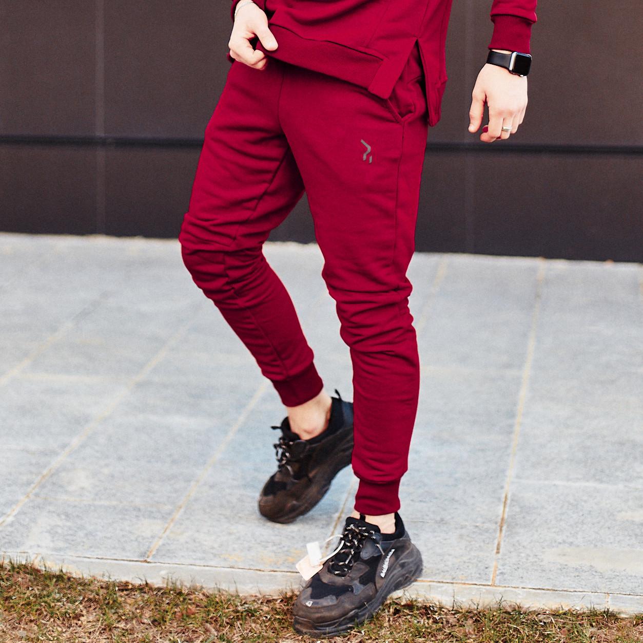 Спортивные штаны Пушка Огонь Jog бордовые