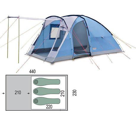 Палатка кемпинговая Pinguin Nimbus 3 Синий, фото 2