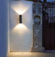 Фасадный светильник под лампу 2хE27, двусторонний DH0702 черный