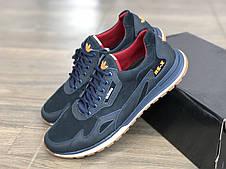 Кожаные кроссовки мужские EGoist 250 син размеры 40-43