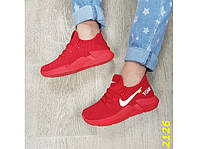 Кроссовки женские красные очень легкие дышащие Текстиль