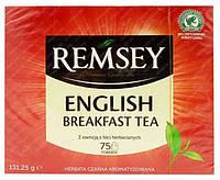 Черный чай Remsey English Breakfast 75 пакетиков Польша