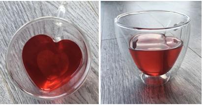 "Чашка с двойным дном ""Сердце"" 150 мл 16959-1N, фото 3"