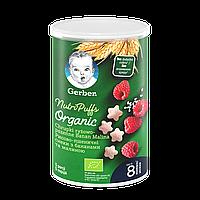 Рисово-пшеничні снеки Gerber® Organic з бананами та малиною 35г NEW!!!