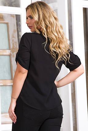 Блузка 5632 черная, фото 2