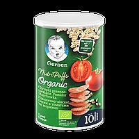 Пшенино-вівсяні снеки Gerber® Organic з томатами та морквою 35г NEW!!!