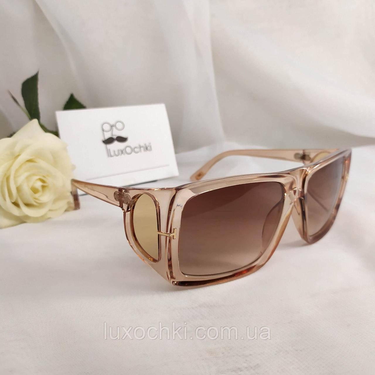 Трендовые очки маска женские с боковыми линзами