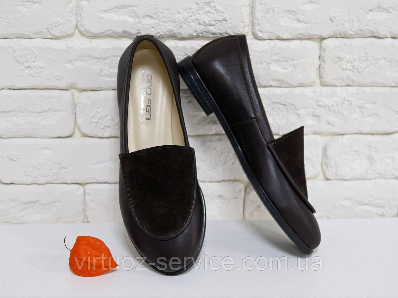 Туфли Gino Figini Т-17060-01 из натуральной кожи 40 Черные