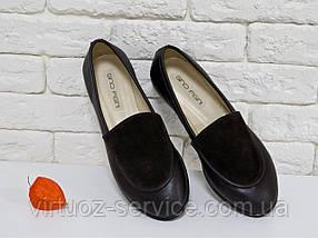 Туфли Gino Figini Т-17060-01 из натуральной кожи 40 Черные, фото 2
