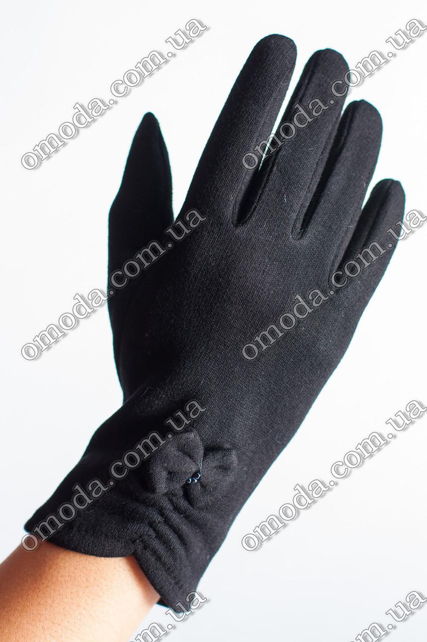 Женские стрейчевые перчатки бантик