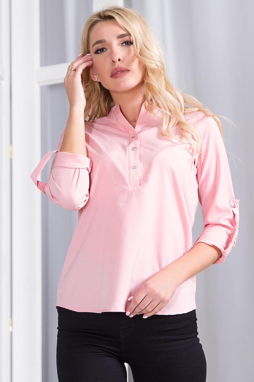 Блузка 757 розовая размер 48