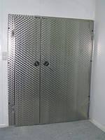 Петлевая распашная двустворчатая дверь из нержавеющей стали