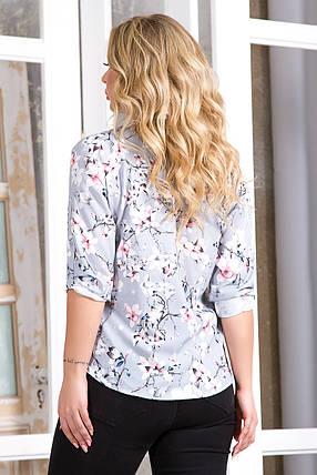 Блузка 5757 серый принт, фото 2
