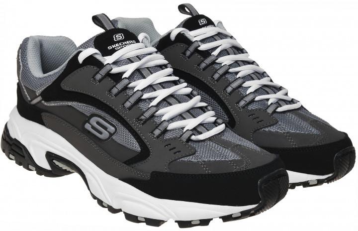 Кроссовки мужские серые черные Skechers 51286 CCBK