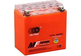 Мото аккумулятор Outdo 12 Ah UTX14-BS (GEL)/(6х) HCOG-12-0