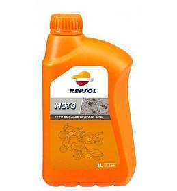 Охлаждающая жидкость Repsol MOTO COOLANT & ANTIFREEZE 50%, 1л / RP714W51