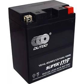 Мото аккумулятор Outdo 14 Ah YB14L-BS MF (FA)/(6х) HCOMF-14-1