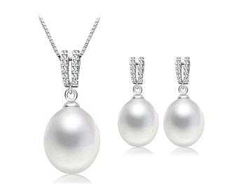 """Комплект сережки з підвіскою Primo Pearls """"Ніжність"""""""
